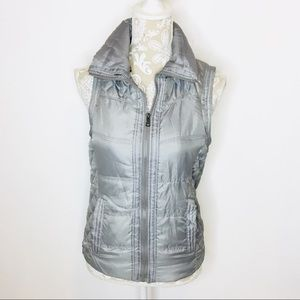 BONGO Gray Puffer Quilted Vest SMALL bh110